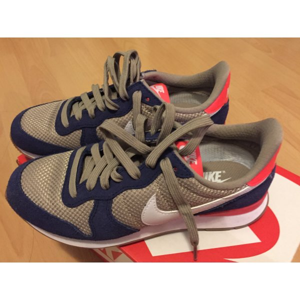 Nike Internationalist Damen Retro Sneaker blau beige