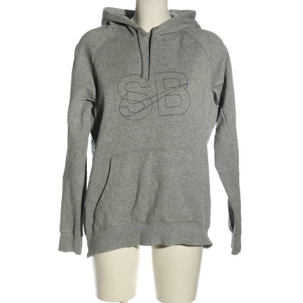 Nike Kapuzenpullover hellgrau meliert Casual-Look