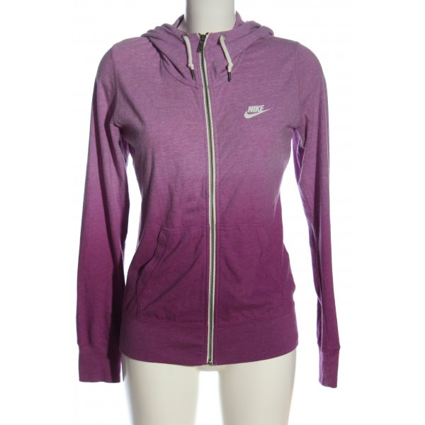 Nike Kapuzensweatshirt pink grafisches Muster Casual-Look