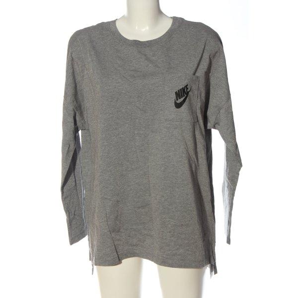 Nike Longsleeve hellgrau meliert Casual-Look