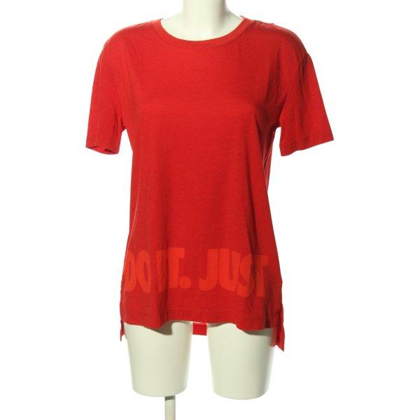 Nike Oversized Shirt rot Motivdruck Casual-Look