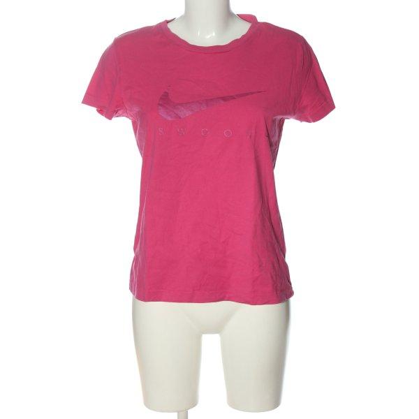 Nike Print-Shirt pink Motivdruck Casual-Look