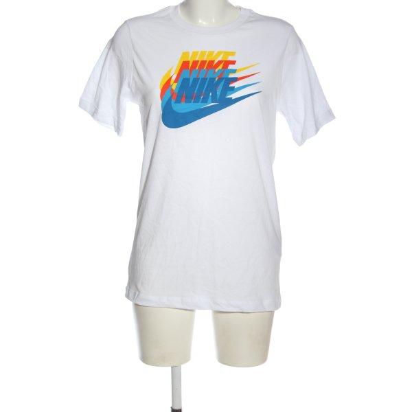Nike Print-Shirt weiß Motivdruck Casual-Look
