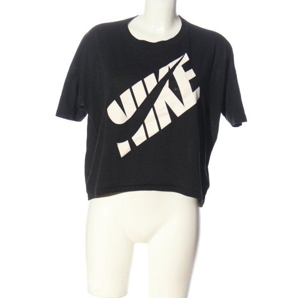 Nike Print-Shirt schwarz Motivdruck Casual-Look