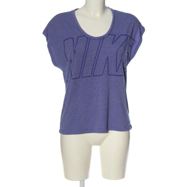 Nike Print-Shirt blau meliert Casual-Look