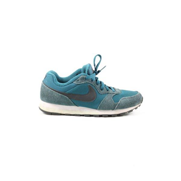 Nike Schnürsneaker blau-schwarz Motivdruck Casual-Look