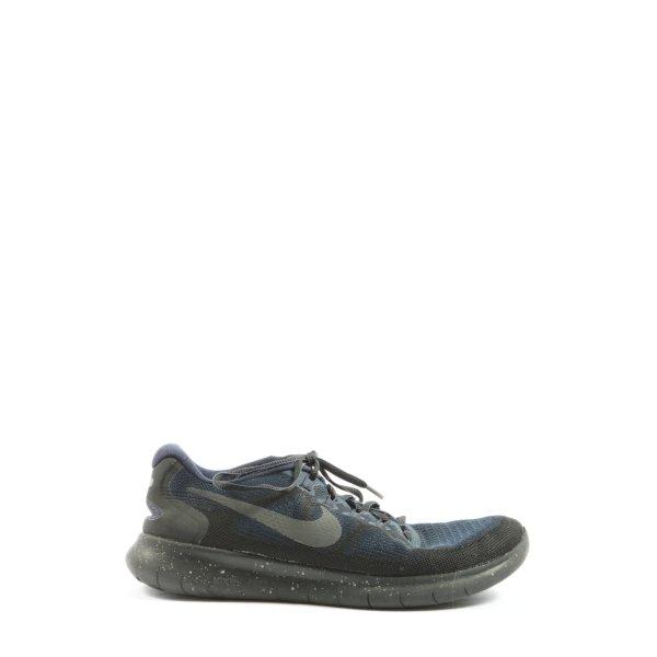 Nike Schnürsneaker schwarz-blau Casual-Look
