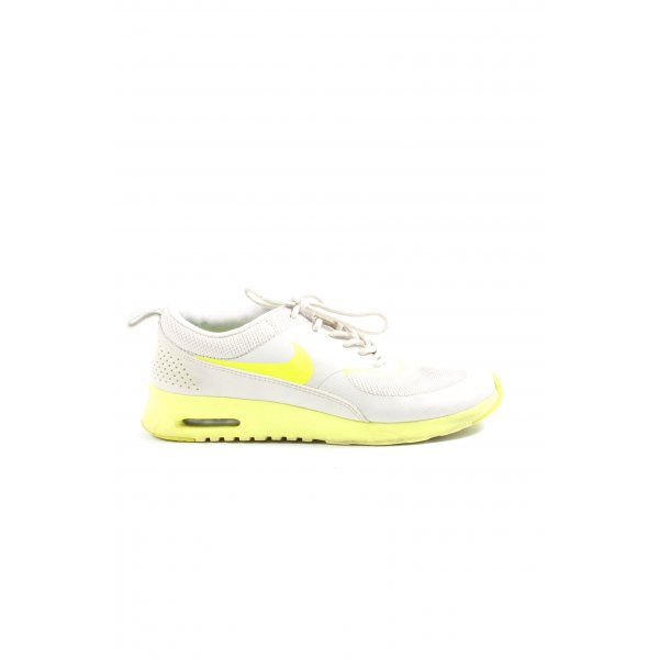 Nike Schnürsneaker weiß-blassgelb Schriftzug gedruckt Casual-Look