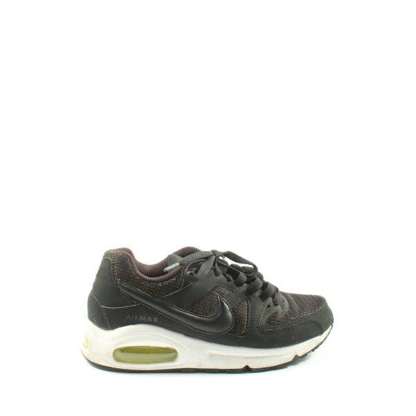 Nike Schnürsneaker schwarz-braun Webmuster Casual-Look