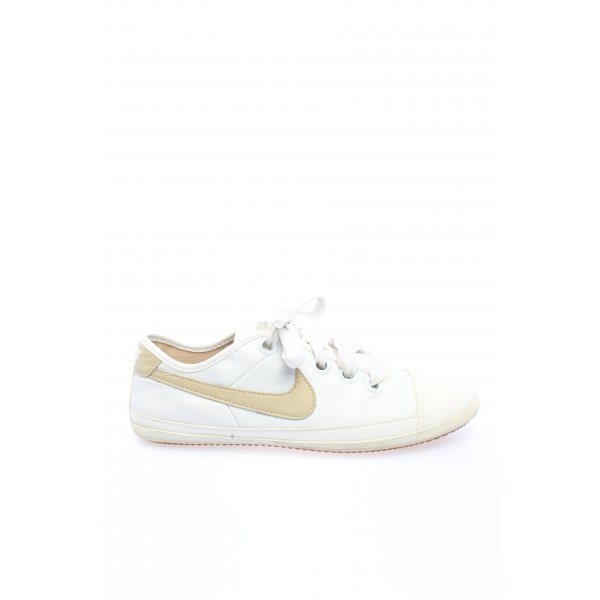 Nike Schnürsneaker weiß-goldfarben Casual-Look