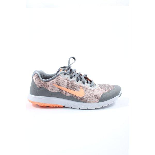 Nike Schnürsneaker hellgrau-hellorange abstraktes Muster Casual-Look