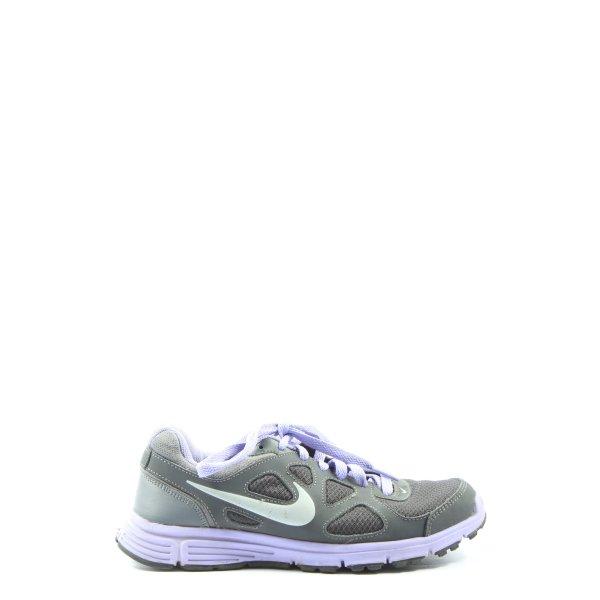Nike Schnürsneaker khaki-lila Casual-Look