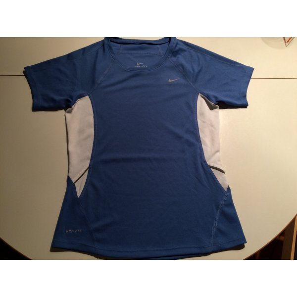 nike Shirt dry fit, Gr. XS-S, blau-weiß, neuwertig