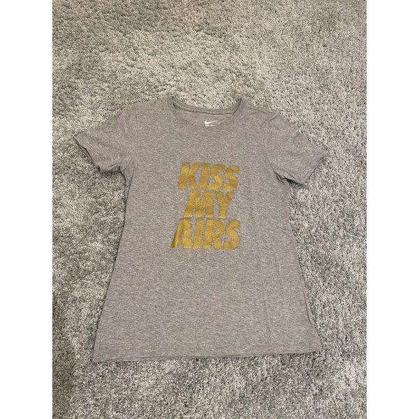 """Nike Shirt Grau/Gold in S """"Kiss My Airs"""""""