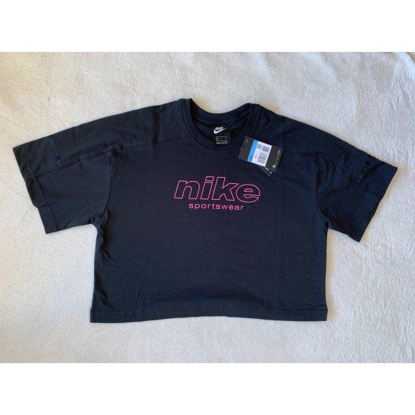 Nike Shirt T-Shirt M 38 NEU cropped schwarz pink