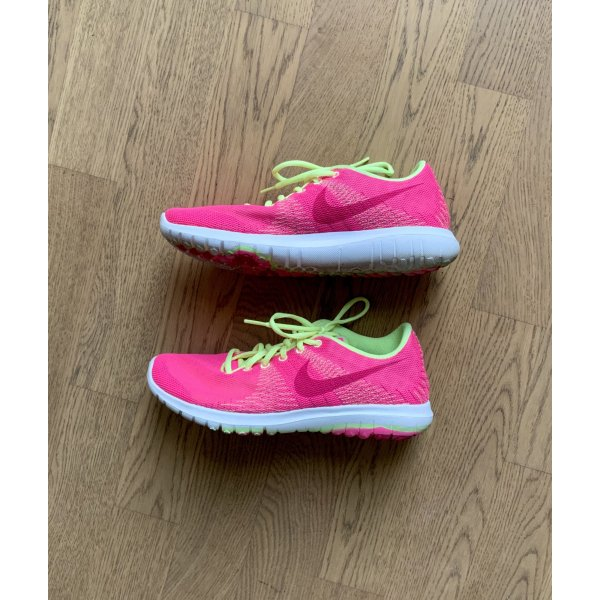❤️ Nike Sneaker Gr 36,5 Pink Gelb Neon Sportschuhe ❤️