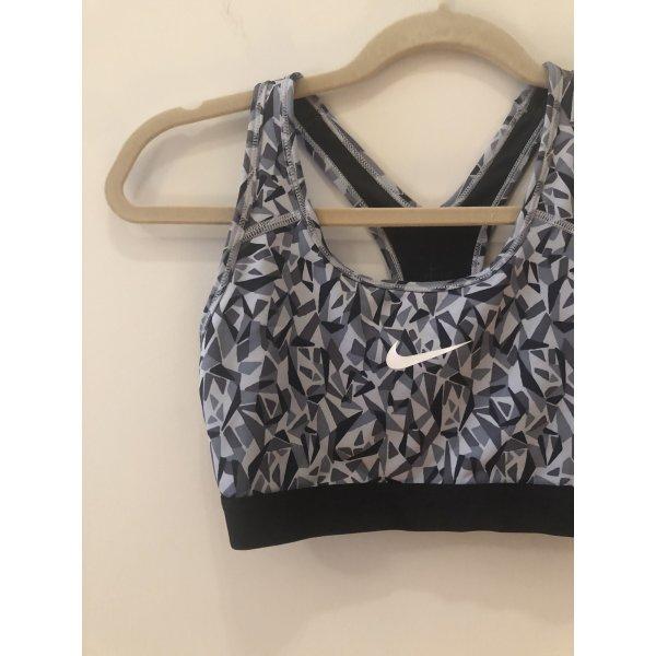 Nike Sportbh grau/Muster