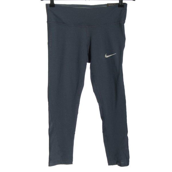 Nike Sporthose blau-weiß Motivdruck sportlicher Stil