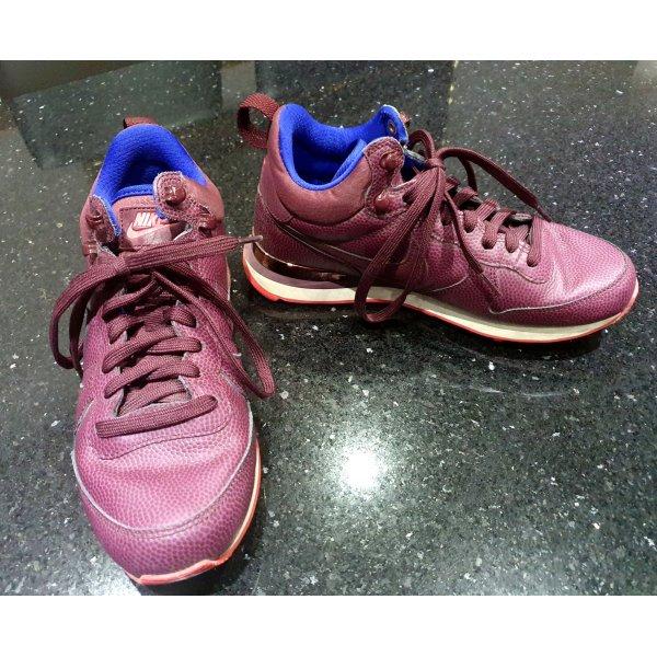 Nike Sportschuhe Sneakers burgunderrot weinrot 38,5 Leder