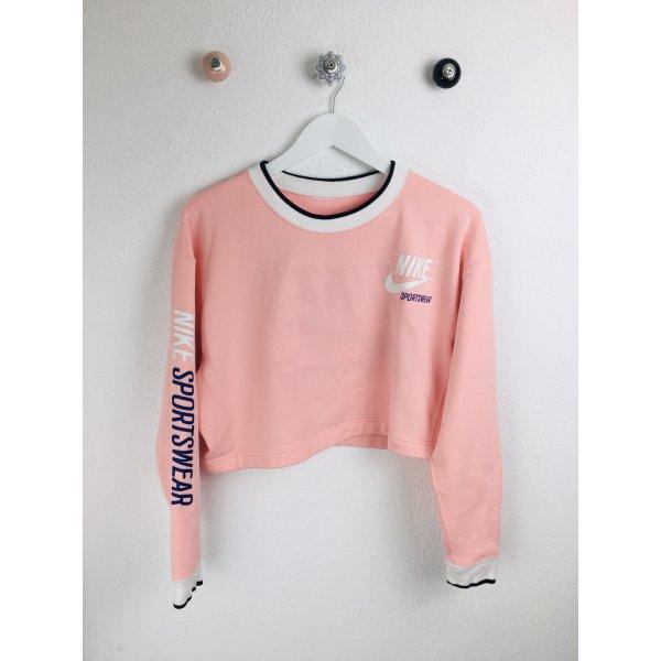 NIKE Sportswear Wende Crew Neck Sweater Gr. S rosé