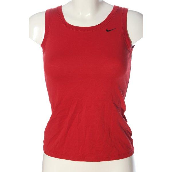 Nike Sporttop rot-schwarz Casual-Look