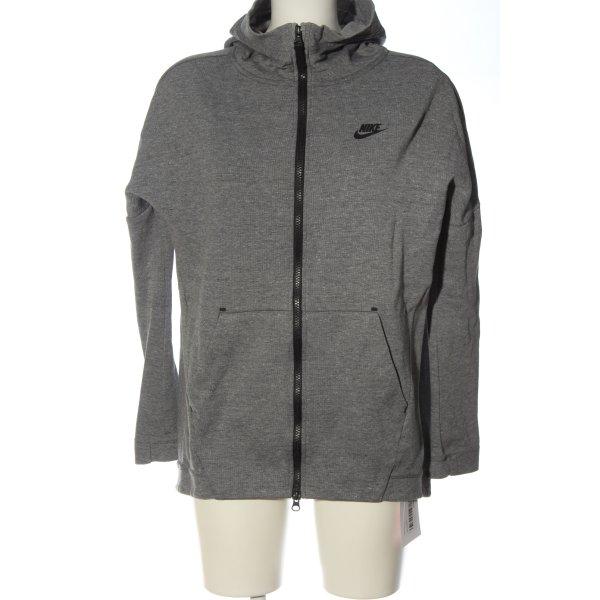 Nike Sweatjacke hellgrau meliert Casual-Look