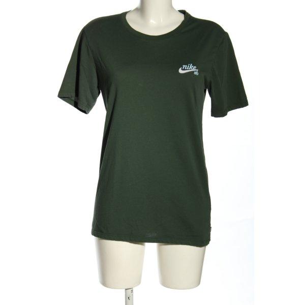 Nike T-Shirt grün Schriftzug gedruckt Casual-Look
