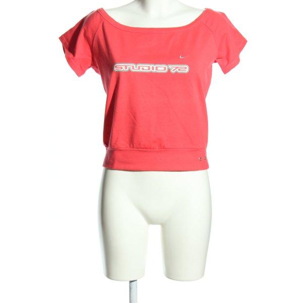 Nike T-Shirt pink Schriftzug gedruckt Casual-Look