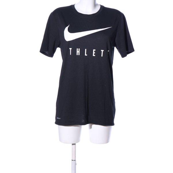 Nike T-Shirt blau-weiß Motivdruck sportlicher Stil