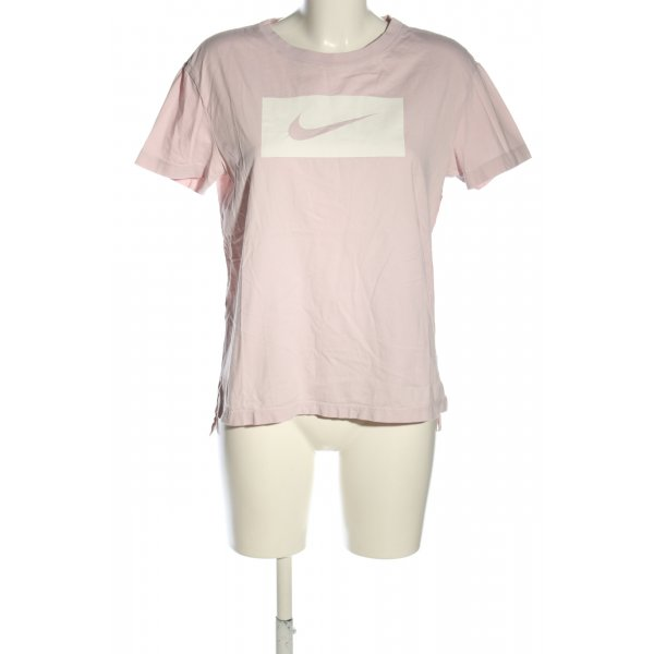 Nike T-Shirt pink-weiß Motivdruck Casual-Look