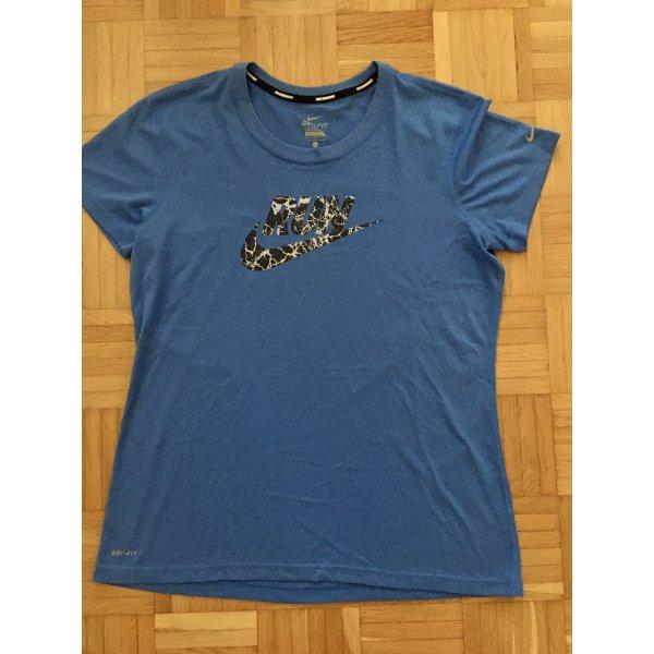 Nike T-Shirt, Funktionsshirt, Sport, Gr. L, Blau, mit Reflektoren, TOP!