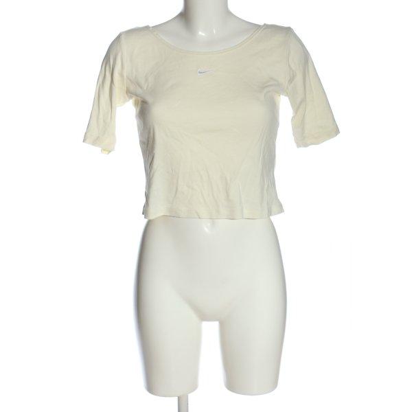 Nike U-Boot-Shirt creme sportlicher Stil