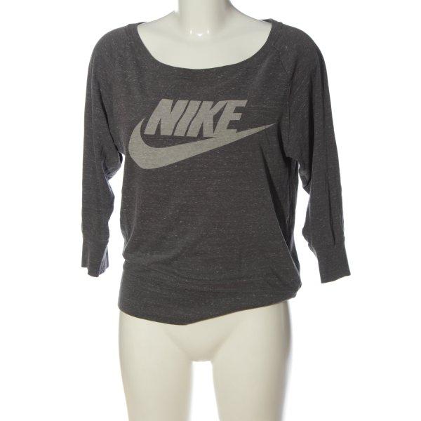 Nike U-Boot-Shirt schwarz-hellgrau meliert Casual-Look