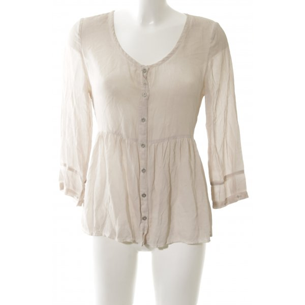 NILE atelier Langarm-Bluse creme Casual-Look