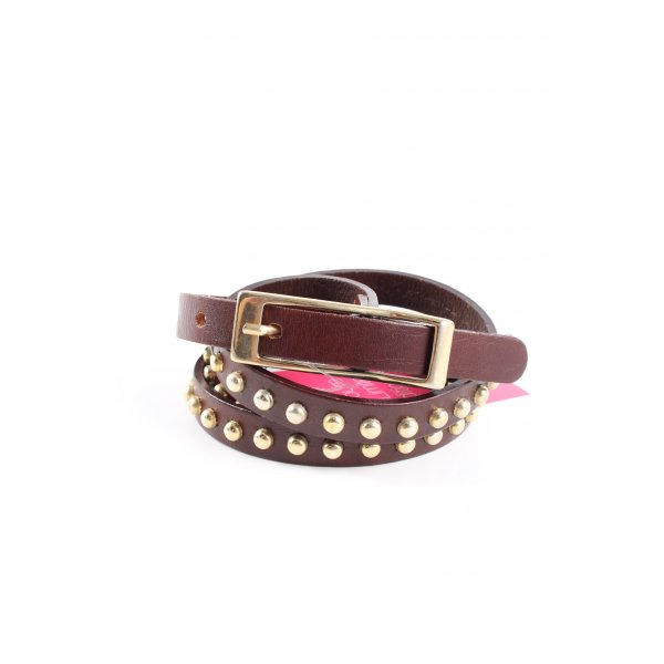 no name Studded Belt brown-gold-colored casual look