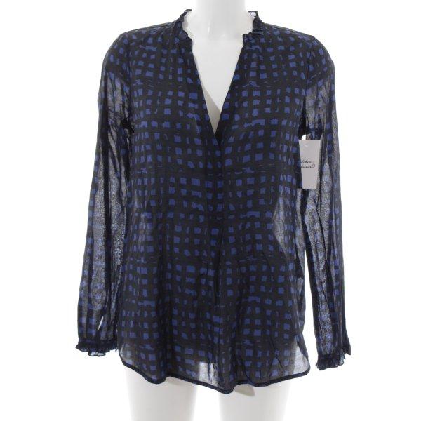 Noa Noa Langarm-Bluse schwarz-blau Casual-Look