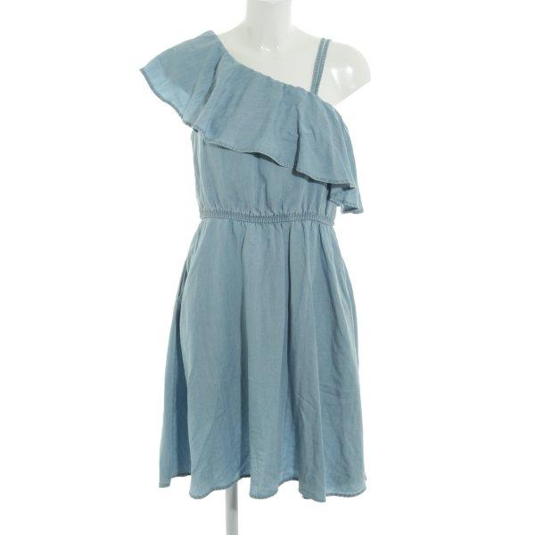 Noisy May Jeanskleid himmelblau-kornblumenblau Jeans-Optik