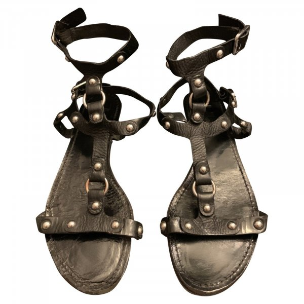 NP 395€ Sigerson Morrison Gladiator Schuhe Echtleder Sandalen 39,5