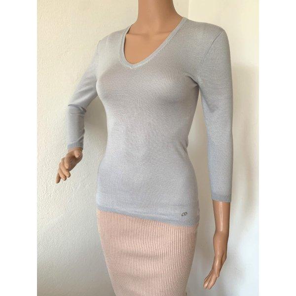 NP 700€ Christian Dior Kaschmir Seide Pullover Pulli Strickpulli XS Designer Sweatshirt Shirt V-Ausschnitt 3/4 Arm