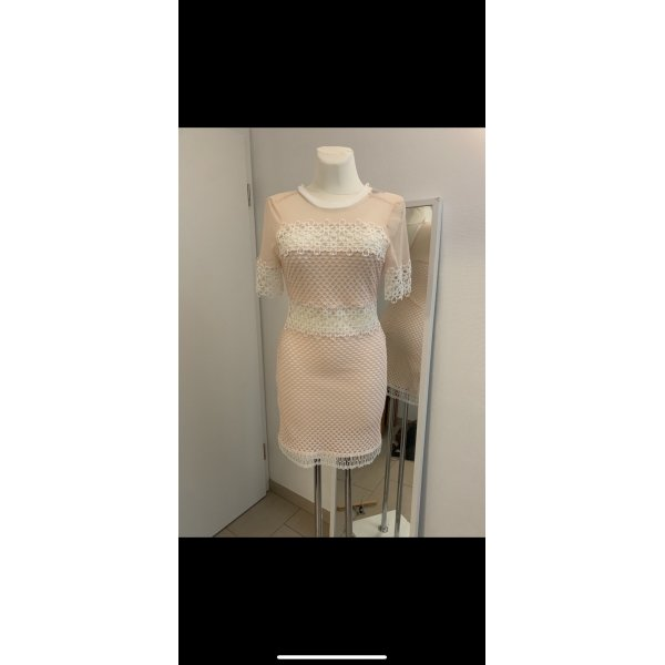 Nude Mini Kleid mit Spitze