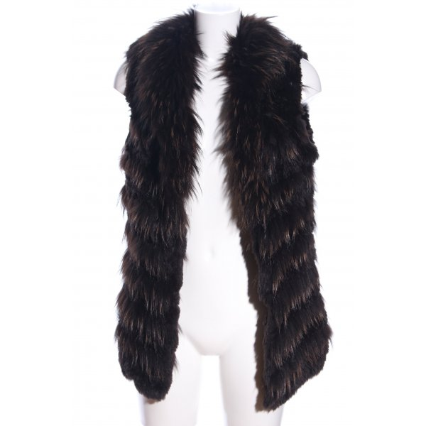 Oakwood Fellweste schwarz-braun Streifenmuster Elegant