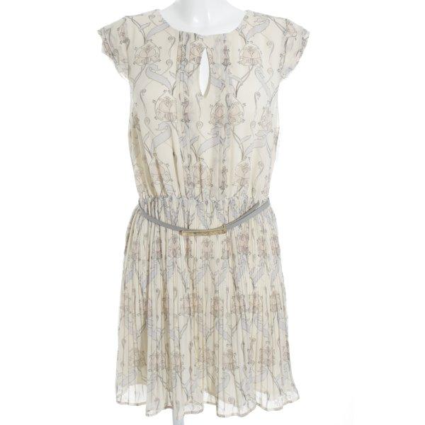 Oasis Cut-Out-Kleid beige-himmelblau Mustermix