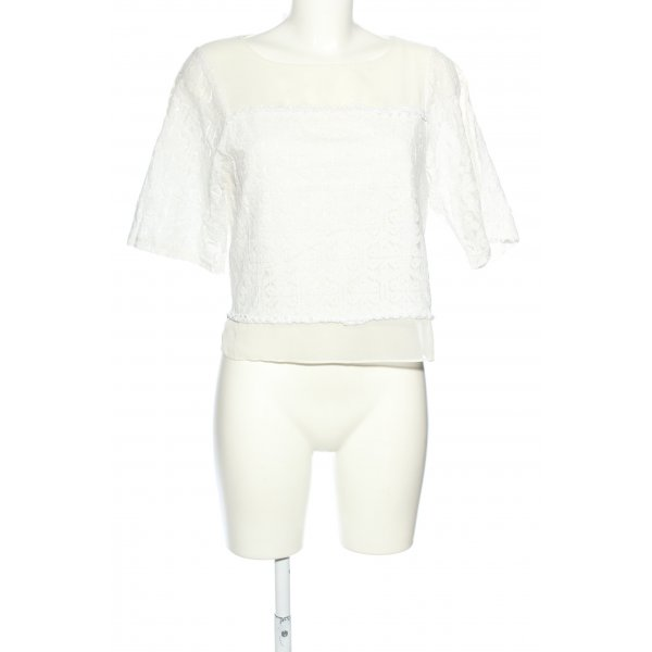 Oasis Kurzarm-Bluse weiß Elegant