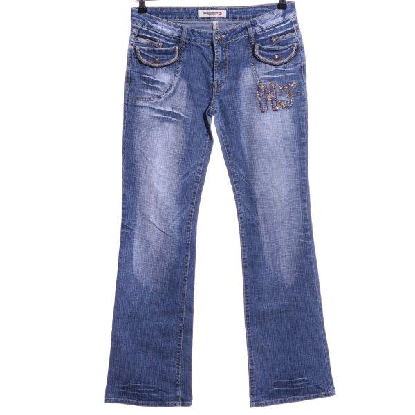 Obiettivo Industry Straight-Leg Jeans blau Casual-Look