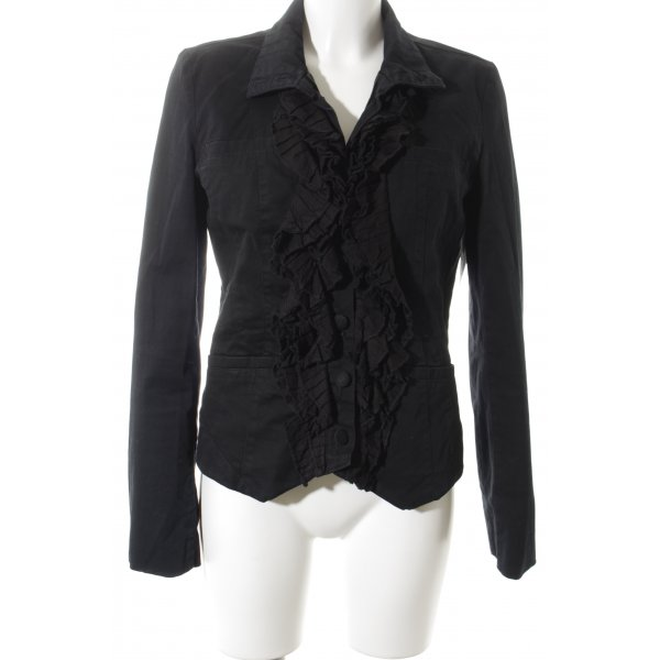 Object Denim Blazer black elegant