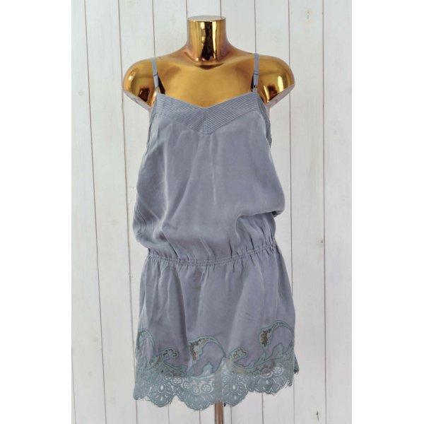 ODD MOLLY Kleid Trägerkleid Mod.Full Moon Dress Grau Seide Spitze Gr.1/ 36 Neu!