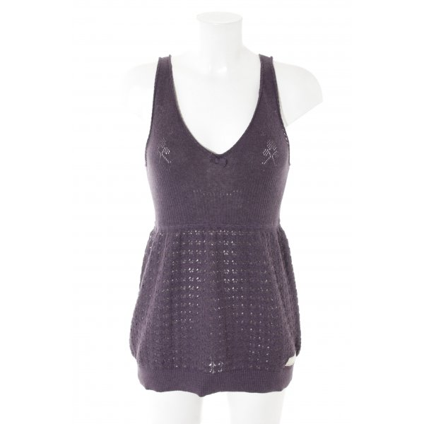 Odd Molly Knitted Top dark violet romantic style