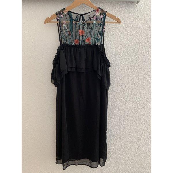 Offshoulder-Kleid mit Tülleinsatz