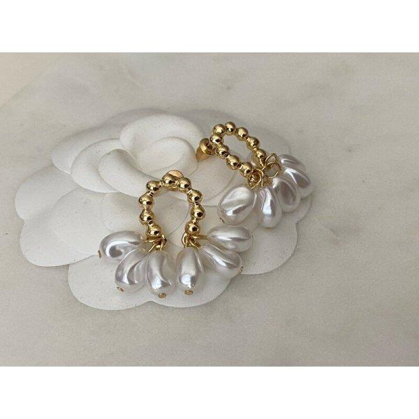Ohrringe neu ungetragen gold Perlen Statement elegant