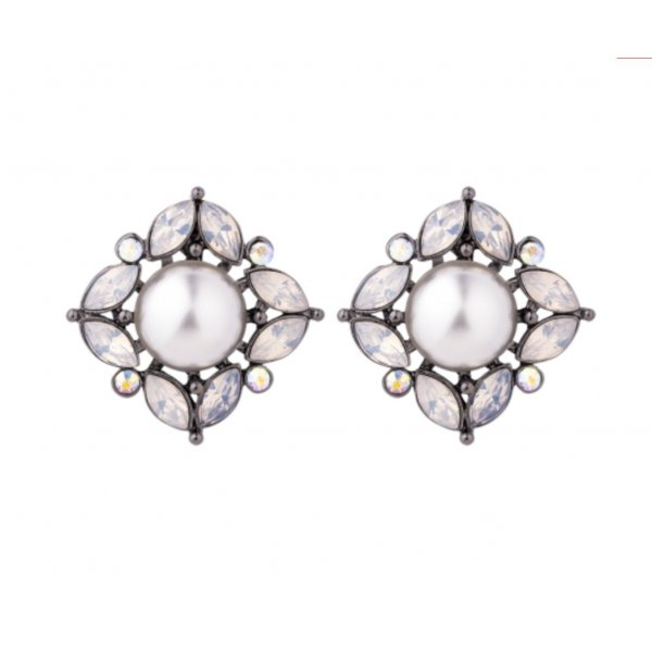Ohrstecker Statement Blüten Knospen Perle